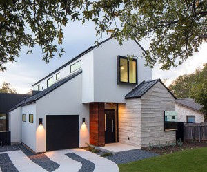 Multiple Gable Roofs and Dark Accents Shape an Exceptional Street Faade