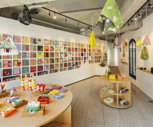 Musubi Furoshiki Shop in Tokyo by Torafu Architects