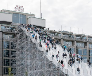 MVRDV Completes Giant Scaffolding Staircase in Rotterdam