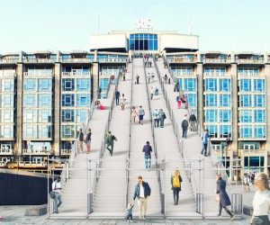 MVRDV installs a giant staircase in Rotterdam