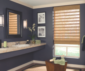 Natural Bathroom Window Shades from Blindsgalore