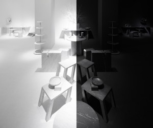nendo designs Black  White space for Marsotto Edizioni