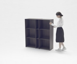 Nendo Expandable Carbon Fibre Nest Shelf