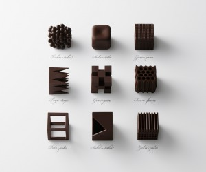 Nendos Limited Edition Chocolate Sets for Maison  Object 2015