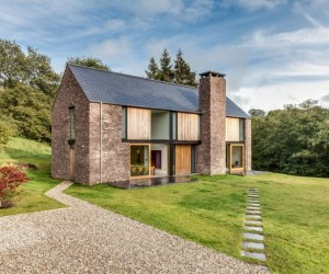 New-build family house set in a secluded valley in Monmouthshire