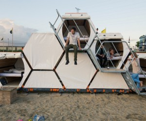 New options in festival accommodation: stackable camping pods