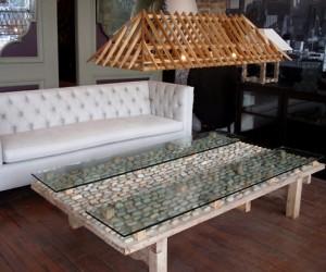 Nicaraguan Stone Coffee Table at HudsonGoods.com