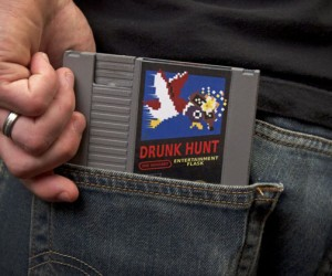 Nintendo Cartridge Whiskey Flask