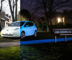 Nissan Shows Off Glow-In-The -Dark Leaf