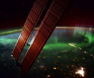 Northern lights from the International Space Station