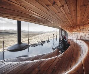 Norwegian Wild Reindeer Centre Pavilion Overlooking the Mountain Snhetta