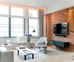 NYC Loft Style Penthouse with Brick Walls Takes Shape in London