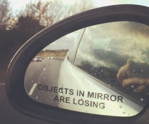 Objects in Mirror Are Losing Car Decal Sticker