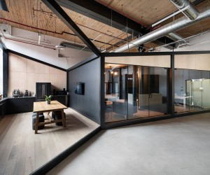 Office for Visual Effects Studio Combines Industrial Style with Creative Spaces