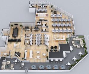 Office Space Interactive 3D Virtual Floor Plan Developed By Yantram 3D Architectural Design, Tokyo  Japan