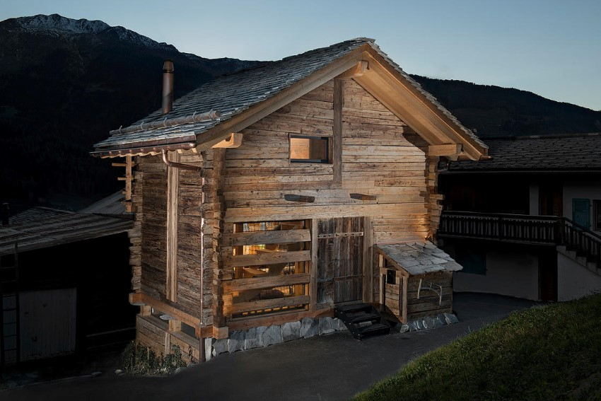 Old Barn Transformed Into A Small Cottage
