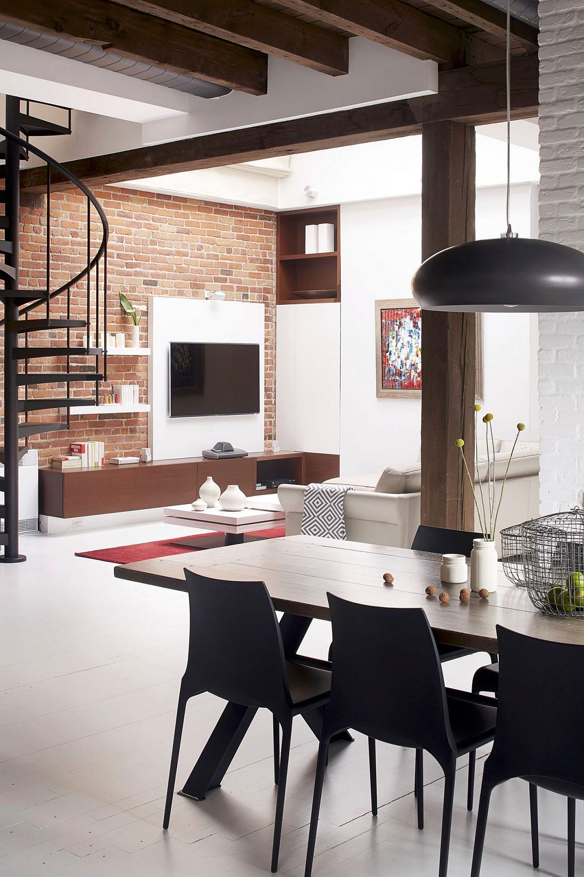 Modern Loft Apartment Bedroom: Old Fire Station Turned Into Dashing Modern Industrial