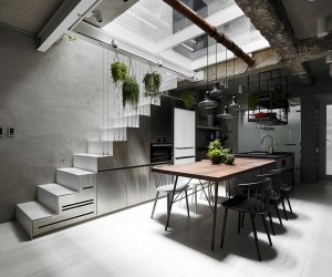 Old Three-Story Townhouse Renovated in Taipei