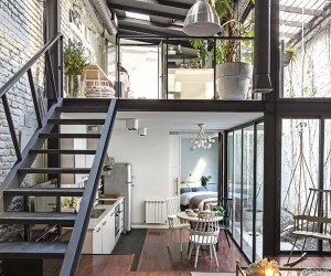 Old Workshop Converted to Extremely Stylish Loft in Madrid