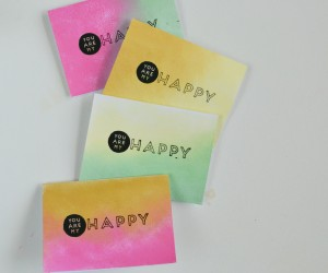 Ombre Painted Greeting Cards