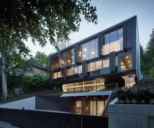 One Home  Two Faces: Perforated Steel Shading System Enthralls at House GT
