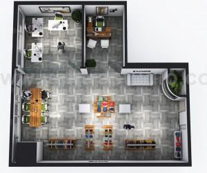 Open Concept modern Cloth showroom 3D Virtual Floor Plan Design by Architectural Visualisation Studio, Sydney  Australia