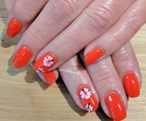 Orange Manicures for Bright Souls
