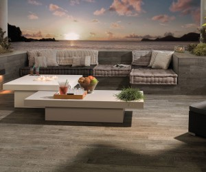 Outdoor Living and Bathing Styles and Solutions by Porcelanosa