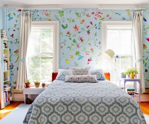 Painted Wallpaper: Bold and Vivacious Taking over Spring Bedrooms this Year