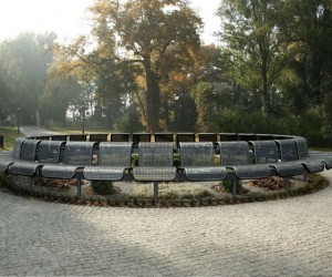 Park bench by JAKI Urban Design