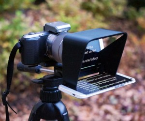 Parrot Teleprompter: A DSLR Accessory For Independent Artists
