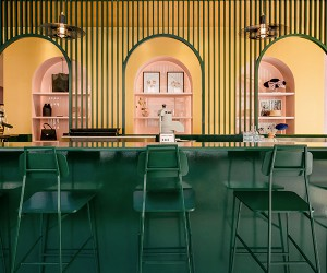 Pastel Rita Caf-boutique In Montral, APPAREIL Architecture