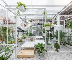 Pavilion of the Origins Purifies Hanois Air With Plants
