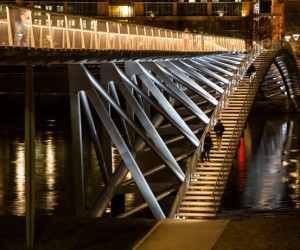 Peace Footbridge in Lyon by Dietmar Feichtinger