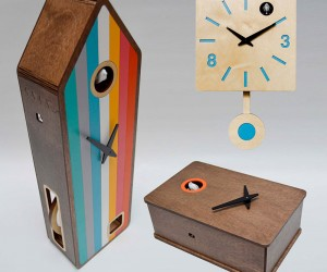 Pedro Mealha Makes Marvelous Modern Cuckoo Clocks