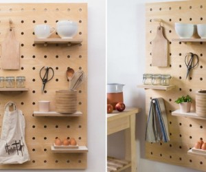 Peg-It-All: Wall-Mounted Storage Shelf