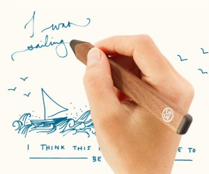 Pencil. a wooden stylus for the iPad by Fiftythree