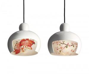 Pendant Lamps Shaped LIke Geisha Heads