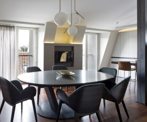 Penthouse in Milan renovated by Mario Mazzer Architects