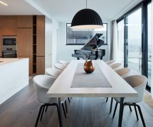 Penthouse in Prague by Jana Hamrov