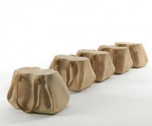 Perfectly Balancing A Fresh Concept With Versatility: Mondana Bag Stool