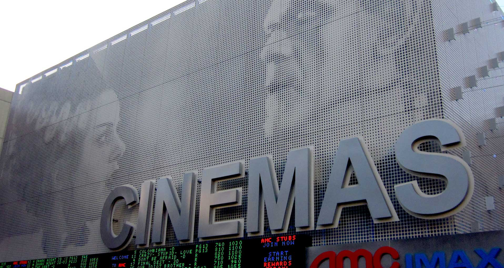Perforated Metal Wall Cladding At Cinema
