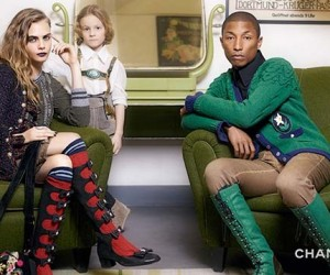 Pharrell Williams  Cara Delevingne for Chanel Paris-Salzburg Pre-Fall 15 campaign