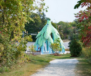 Pine Sanctuary Pavilion by Marc FornesTHEVERYMANY