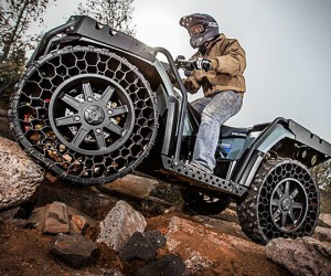 Polaris Sportsman ATV with Airless Tires