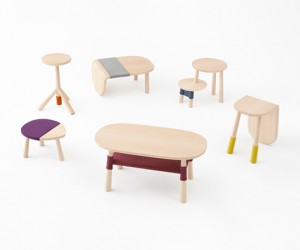 Pooh Table Collection by Nendo for Walt Disney Japan