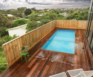 pools on sloping blocks