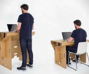 Portable cardboard desk for your folding pleasure