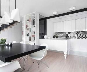 Posh Contemporary Apartment in Poland Unleashes Monochromatic Magic