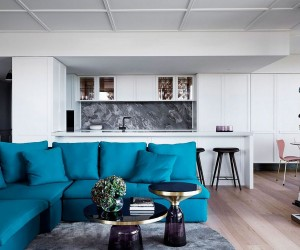 Posh Penthouse Makeover in Melbourne Relies on Chic Dcor and LA Glamour